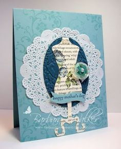The Buzz: Mothers Day Card ~ Blue