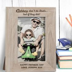 Engraved If Carlsberg did Dads Solid Oak Photo Frame - 6x4