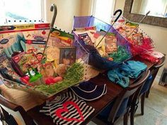 Easter basket idea - fill umbrellas with gifts!