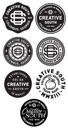 Logo / icons / Badges / Creative south badge_finals — Designspiration