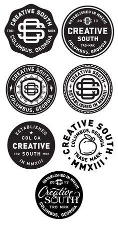 Logo / icons / Badges / Creative south badge_finals — Designspiration