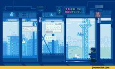 pixel art,gif,gif animation, animated pictures,yurikamome line