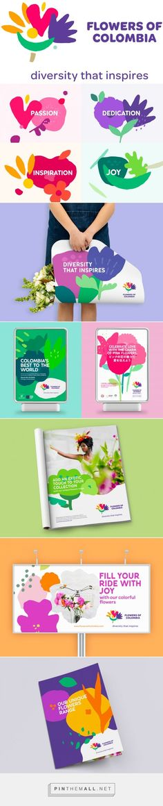 Brand New: New Logo and Identity for Flowers of Colombia by SmartBrands... - a grouped images picture - Pin Them All