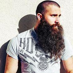 for men who love long bearded men Beard And Mustache Styles, Beard No Mustache, Long Beard Styles, Hair And Beard Styles, Great Beards, Awesome Beards, Beard Boy, Big Beard, Thick Beard