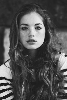 she is beautiful even though she has freckles...my cousin has freckles and she thinks she is ugly because of them :(