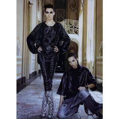 L'uomo Vogue Editorial Unique Twins, October 2010 Shot #4 - MyFDB ❤ liked on Polyvore featuring bill kaulitz, editorials and tim kaulitz