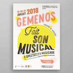 °° Made by Cg °°  Projet : création de l'identité de l'évènement. Gemenos fait son musical. Cette première édition fait revivre l'histoire des plus mythiques comédies musicales de l'opérette marseillaise. Demande : Association les carboni