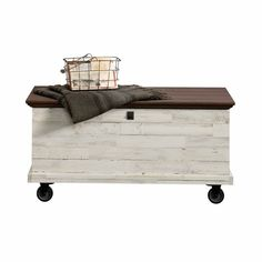 Sauder 419590 Eden Rue Rolling Chest White Plank *** Visit the image link more details. (This is an affiliate link and I receive a commission for the sales) Living Room End Tables, Accent Chairs For Living Room, Farmhouse Design, Farmhouse Decor, Farmhouse Ideas, Modern Farmhouse, Farmhouse Style, Fold Up Chairs, Living Room Furniture Sale