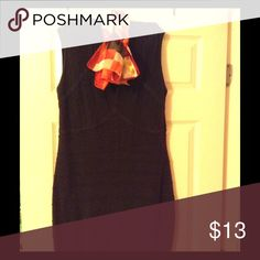 Used Body Form Dress Dress Dark Gray and shows slight signs of wear and being form fitting Dresses Midi