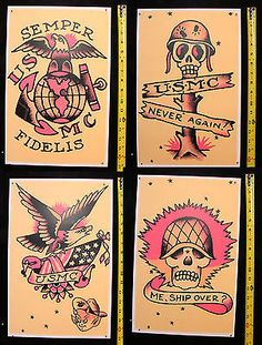 old school marine tattoos