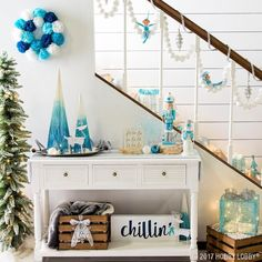 Room-brightening blues and whimsy-inspiring whites come together to create a magical Christmas scene thanks to the Jack Frost collection!