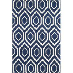 Safavieh Chatham Dark Blue / Ivory Rug   AllModern
