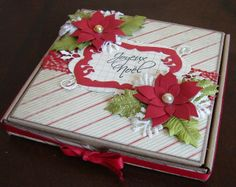 To use with the gift card holder. Created by Sarah Dufresne. Craft Box, Noel Christmas, Support, Albums, Creations, Wraps, Boxes, Gift Wrapping, Fancy