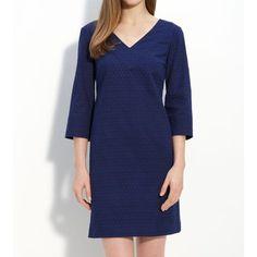Donna Morgan Dress Navy Blue Donna Morgan eyelet shift dress. Very cute and flattering. From Nordstrom. Donna Morgan Dresses