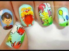 Dr. Seuss - The Lorax Nail Art LuvableNails