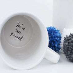 Funny Youve Been Poisoned Hidden Message Mug, for those with a sense of humour.  Make your friends and family laugh with this funny Youve Been