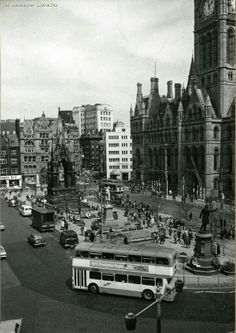 Albert Square after festival 73 parade, Manchester.