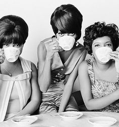 Coffee & The Supremes  (photographed by Henry Grossman)