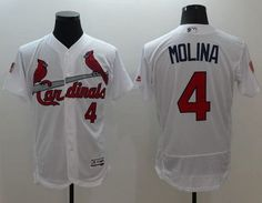Cardinals #4 Yadier Molina White Fashion Stars & Stripes Flexbase Authentic Stitched MLB Jersey