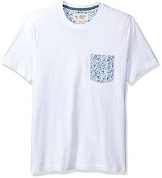 Original Penguin Men's Gingham Floral Printed Pocket Tee Lightweight, lounge-ready t-shirts – don't you want to just throw one on and chill well, you can, with the Original Penguin gingham floral tee. It has a ribbed neckline and a slim fit design to look