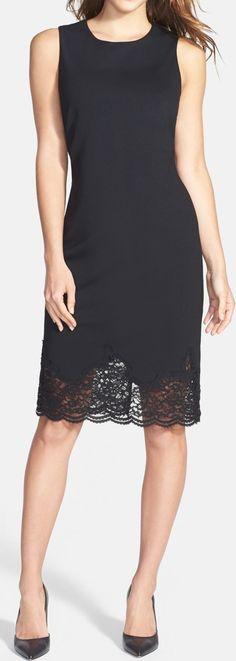 Vince Camuto Lace Hem Sheath Dress #annwcharles