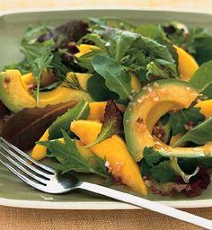 Avocado and Mango Salad with Passion Fruit Vinaigrette