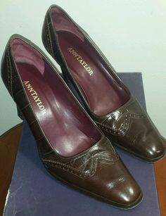 f33c83a4361 ANN TAYLOR women s espresso brown leather dress shoes 7 M Great condition!   AnnTaylor