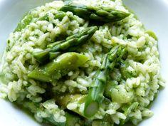 Risotto mit Spargel und Rucola-Pesto