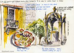 Rewind: A favourite page (or two)  A great read on keeping a sketchbook by Liz Steele