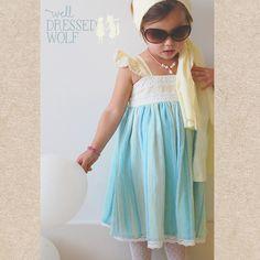 WDW Summer Sky Cameron dress & bloomers 24m