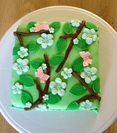 Spring cake! Lente taartje! Cupcake Cakes, Cupcakes, Pudding, Desserts, How To Make, Food, Deserts, Cupcake, Custard Pudding