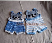Ravelry: Baby Bear Overall Shorties, Buttons at Legs for Easy Change pattern by Cathy Ren