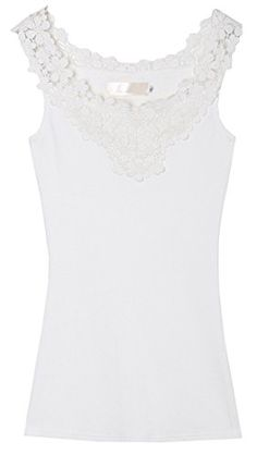 ee526b3981bbe Generic Women s Big Yards Loose Casual Lace Simple Vest at Amazon Women s  Clothing store