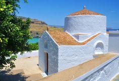 Tiny church.  Lindos, Greece