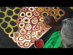 Aboriginal Artist Lena Pwerle painting