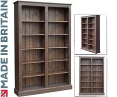 Solid Pine Bookcase in Dark Oak, 6ft x 4ft Handcrafted & Waxed Adjustable Display Storage Shelving Unit, Bookshelves. Choice of Colours. No flat packs, No assembly (BK26): Amazon.co.uk: Office Products