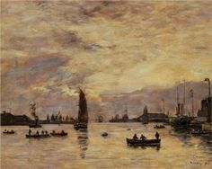 Le Havre Avent Port 1894 Art Print by Boudin Eugene. All prints are professionally printed, packaged, and shipped within 3 - 4 business days. Manet, Eugene Boudin, Honfleur, Le Havre, Post Impressionism, Degas, Art Database, Pointillism, Beach Scenes