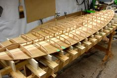How to build a wood paddle board - rocker table