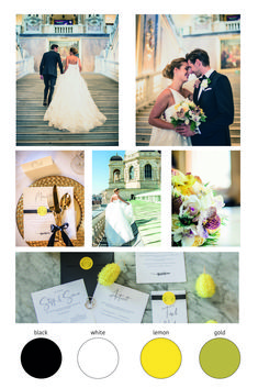 in this post you will se inspiration for a black white gold lemon wedding color scheme. Yellow Wedding, Gold Wedding, Wedding Color Schemes, Wedding Colors, Black White Gold, Wedding Photoshoot, Lemon, Blog, Style