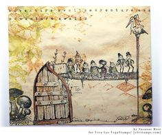 Susanne Rose Designs: Mail Art Envelope with Viva Las VegaStamps!