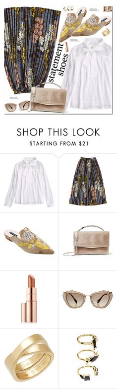 """""""Statement Shoes"""" by oshint ❤ liked on Polyvore featuring Eddie Borgo, Estée Lauder, Miu Miu and Noir Jewelry"""