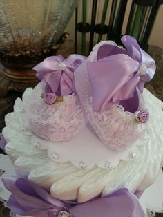 One Tier Lavender / Diaper Cake For Child Woman / Child Bathe Centerpiece / Elegant Diaper Muffins / Child Bathe Present. >> Have a look at even more at the image Learn more at https://www.etsy.com/pt/listing/464681553/one-tier-lavender-diaper-cake-for-baby?ref=related_listings