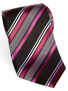 a0a8c80113eb Ties - Sean John Pink Tic Stripe Extra Long Tie - Men's Wearhouse