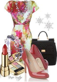 """L.K. Bennett dress"" by renee-switzer ❤ liked on Polyvore"