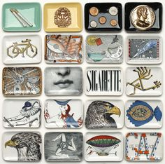 A range of midcentury ashtrays by Atelier Fornasetti