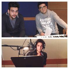 In the recording studio in Bologna