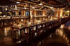 Intimate Chicago Wedding: A Rustic Romance at Morgan Manufacturing from David Wittig photography - wedding reception idea