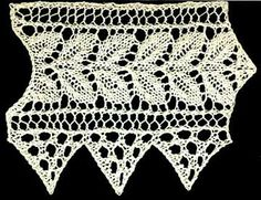 Free Knitting Pattern: Leslie's Double Rose Leaf Lace