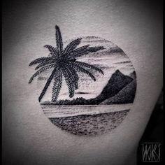 Resultado de imagen para hawaii tattoo, hibiscus, beach, dolphin