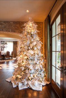 fantastico albero di Natale total white